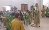 В праздник Входа Господня во Иерусалим в Троицком кафедральном соборе в Париже совершена Литургия архиерейским чином