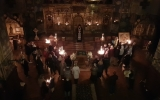 В четверток первой седмицы Великого поста епископ Нестор совершил повечерие с чтением покаянного канона в Никольском соборе в Ницце