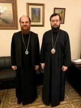 Патриарший Экзарх Западной Европы провел рабочую встречу с епископом Богородским Амвросием