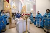 Митрополит Корсунский Антоний совершил Божественную литургию в день празднования Собора Пресвятой Богородицы