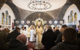 В неделю пред Богоявлением митрополит Антоний совершил Божественную литургию в Серафимовском храме в Монжероне