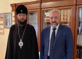 Патриарший экзарх встретился c главой Россотрудничества Е.А.Примаковым