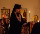 Во вторник первой седмицы Великого поста епископ Нестор совершил великое повечерие с чтением Великого канона прп. Андрея Критского в Благовещенском храме в Барселоне