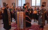 В четверток первой седмицы Великого поста епископ Нестор совершил великое повечерие с чтением Великого покаянного канона святого Андрея Критского в Воскресенском храме в Цюрихе