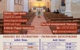 Расписание богослужений в Сен-Тропе в июле и августе