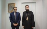 Патриарший Экзарх встретился с руководителем Центрального бюро культов Франции