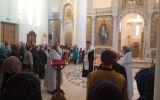 Епископ Нестор совершил литию по жертвам взрыва в Санкт-Петербургском метрополитене