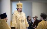В неделю сыропустную епископ Нестор совершил Божественную литургию в Троицком соборе в Париже