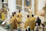 В Троицком кафедральном соборе была совершена Литургия архиерейским чином