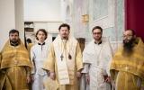 Епископ Корсунский Нестор совершил Божественную литургию и две хиротонии в Троицком кафедральном храме в Париже