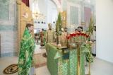 В праздник Входа Господня в Иерусалим епископ Нестор совершил Божественную литургию и диаконскую хиротонию в Троицком соборе