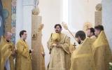 В неделю перед Воздвижением епископ Нестор совершил Божественную литургию в Троицком кафедральном соборе