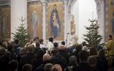 В Рождественскую ночь митрополит Корсунский и Западноевропейский Иоанн совершил Божественную литургию в Троицком кафедральном соборе