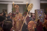 В праздник Светлого Христова Воскресения епископ Нестор совершил пасхальные богослужения в Троицком кафедральном соборе в Париже
