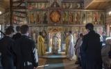 Управляющий Корсунской епархией совершил Божественную литургию в храме Духовно-образовательного центра