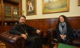 Состоялась встреча председателя ОВЦС митрополита Волоколамского Илариона с послом Франции в России