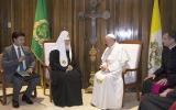Настоятель храма епархии в Мадриде дал серию комментариев для испанских СМИ о встрече Святейшего Патриарха Кирилла с Папой Римским Франциском